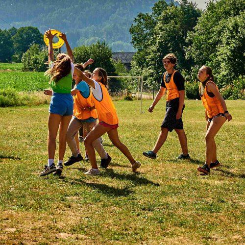 Po ránu se začal hrát velký meziexpediční šampionát Ultime frisbee league.